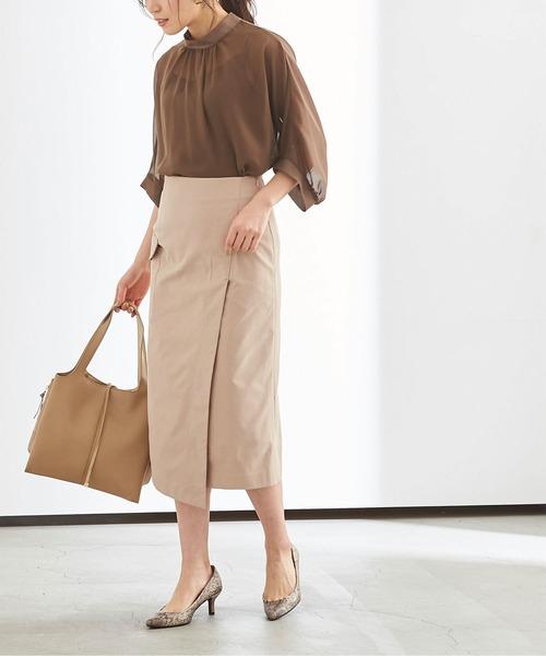 [ur's] ポケットラップタイトスカート