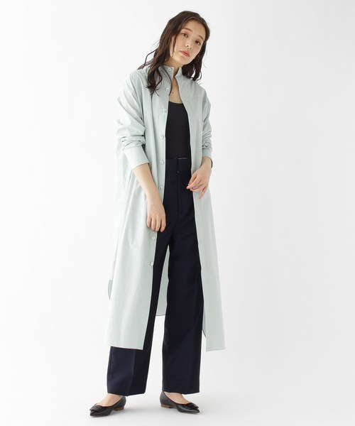 [DRESSTERIOR] 【2WAY/洗える】オーガニックコットンシャツドレス