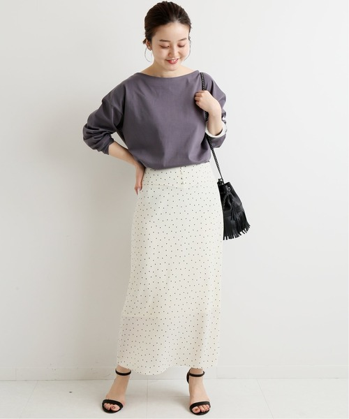 [IENA] フロントボタンプリントスカート◆