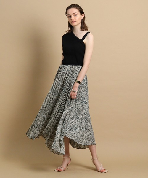 [aquagirl] アコーディオンプリーツスカート