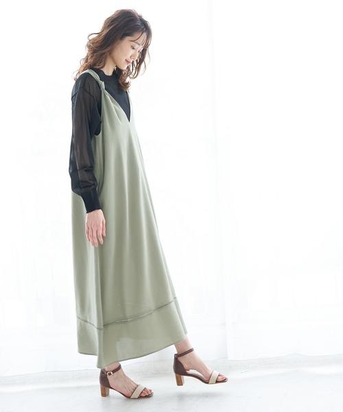 [ROPE' PICNIC] 【WEB限定】バックシャンジャンパースカート