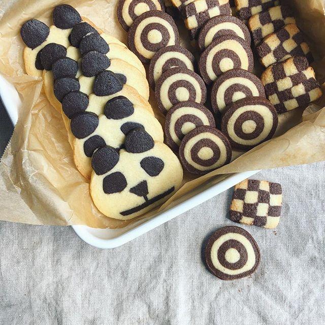 人気クッキー!パンダのアイスボックスクッキー