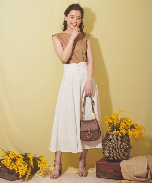 [Noela] 楊柳レーススカート