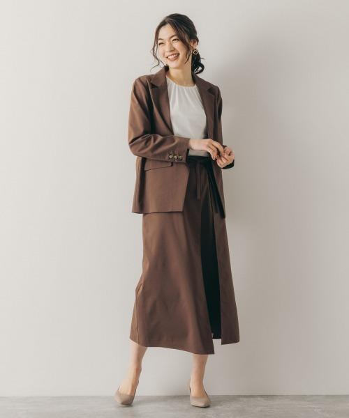 [GLOBAL WORK] リネン混SETUP/スカート【MATINEE LINE】/874302