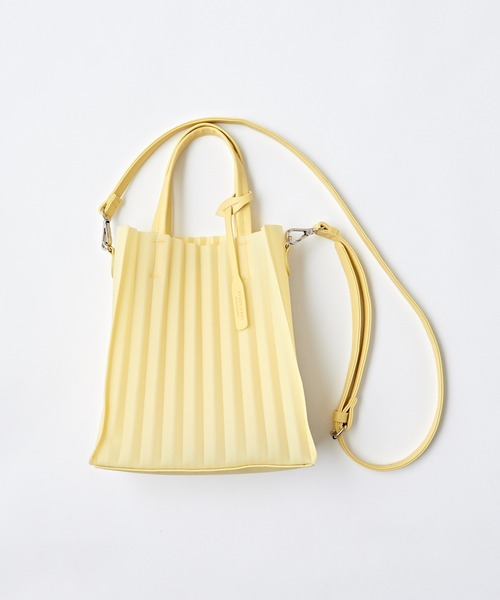 [natural couture] プリーツ加工2WAYバッグ