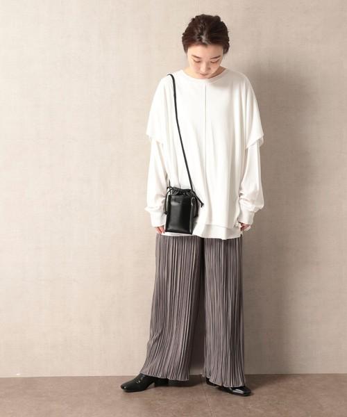 【11月下旬服装】プリーツパンツで観光コーデ