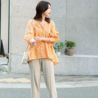オレンジトップスの秋コーデ【2020】合う色を組み合わせた大人の着こなし♪