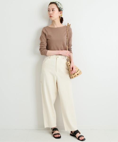 【11月中旬服装】白パンツで洗練コーデ