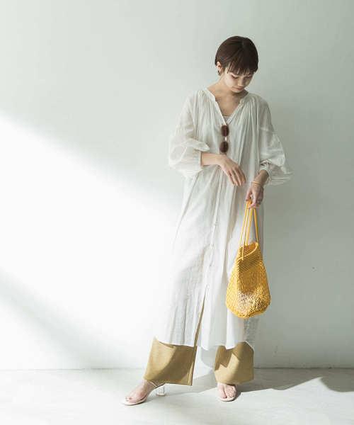 【11月上旬服装】涼し気なワンピースコーデ