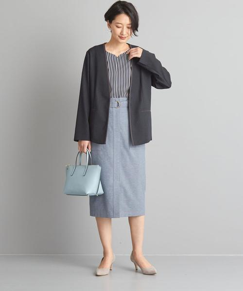 [green label relaxing] 【WORK TRIP OUTFITS】★WTO BC 切替ノーカラージャケット