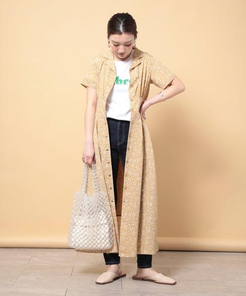 【11月上旬服装】花柄シャツで大人可愛いコーデ