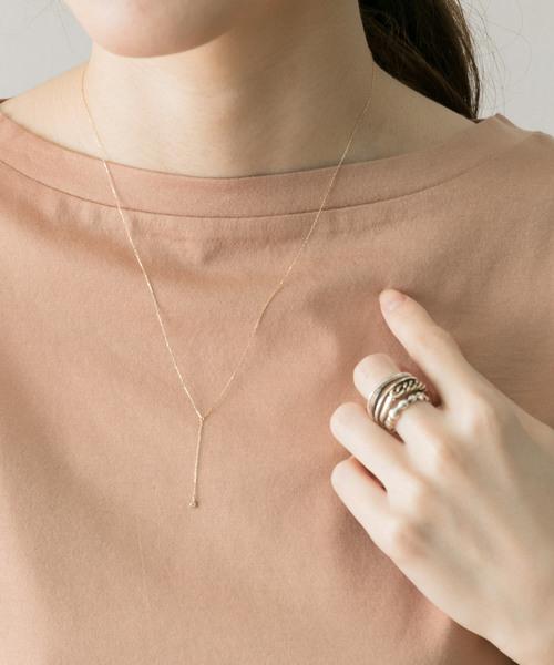 [URBAN RESEARCH] LES BON BON diamond Y necklace