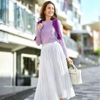 薄紫に合う秋コーデ【2020】上手な組み合わせでワンランク上の着こなしに♪