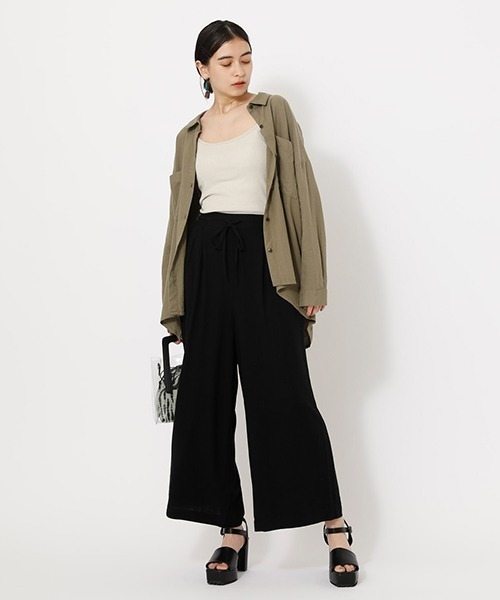 [AZUL BY MOUSSY] BACK TAIL LOOSE SHIRTS/バックテールルーズシャツ【MOOK52掲載 90451】