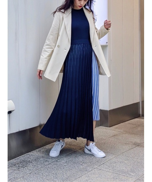 [SHEL'TTER] レイヤードデザインニットドレス