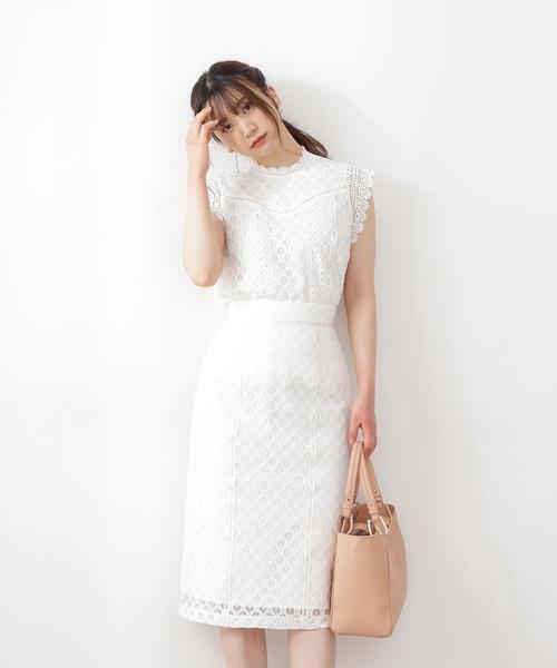 [PROPORTION BODY DRESSING] 《田中みな実さん着用》クラシカルレースタイトスカート