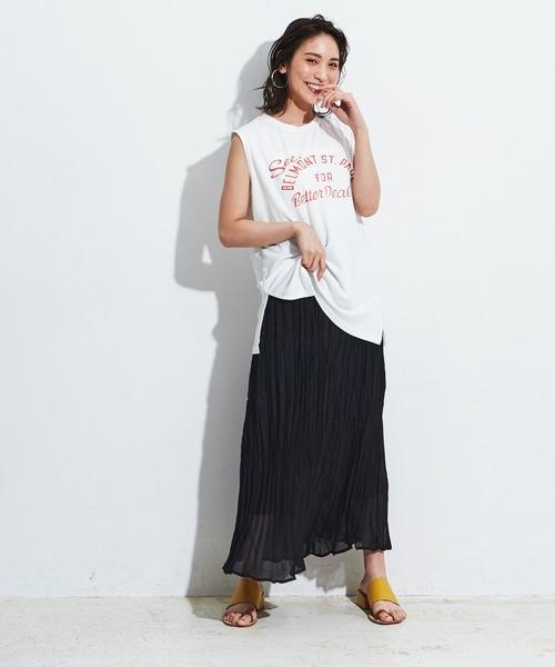 [A.I.C] 【WEB限定】しわ加工・ライトシアーロングスカート