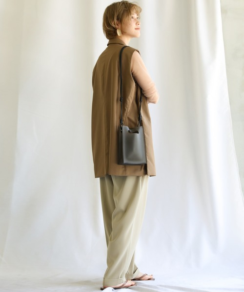 [select MOCA] 2020 S/S クリアスクエアショルダーバッグ/巾着付き透明シースルーミニバッグ