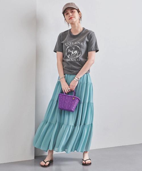 [UNITED ARROWS] UWFM シア― ティアード スカート