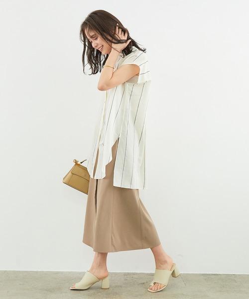 [ROPE'] 【Marisol×ROPE'】【セットアップ対応】レーヨンフィブリルマーメイドスカート
