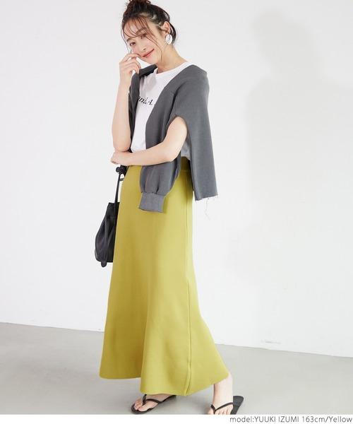 [coca] サマーニットフレアスカート