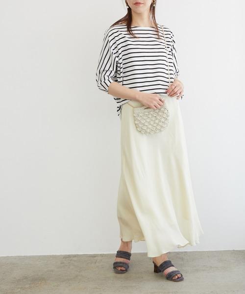 [ROPE'] 【接触冷感】バイヤスマーメイドマキシスカート