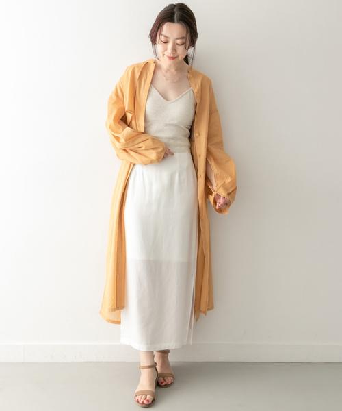 [KBF] KBF+ カラーストレートロングスカート