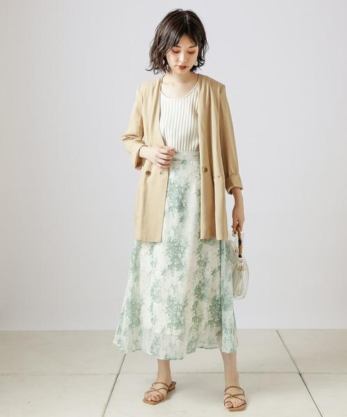 [natural couture] 【WEB限定カラー有り】リネンシャツ感覚ジャケット