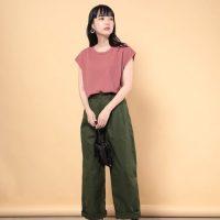 華やかで甘くなりすぎない♡ピンクのTシャツ&カットソーコーデ15選