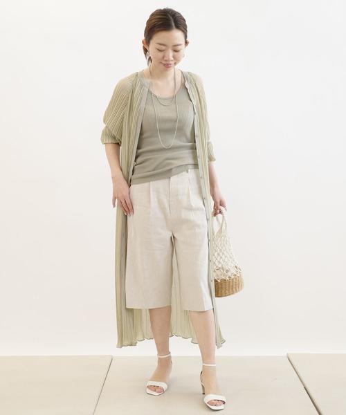 【11月上旬服装】ハーフパンツでスッキリコーデ