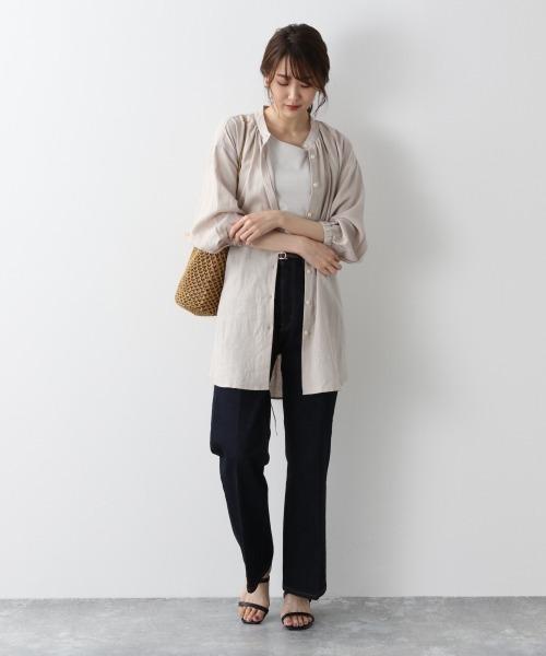 【11月中旬服装】リネンシャツで快適コーデ