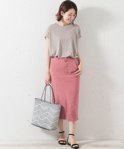 [URBAN RESEARCH] コットンストレッチタイトスカート