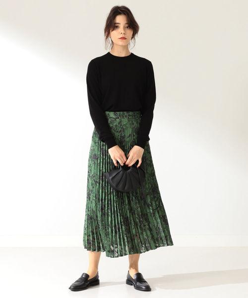 [BEAMS WOMEN] A PUPIL / ジャカードフラワー プリーツスカート