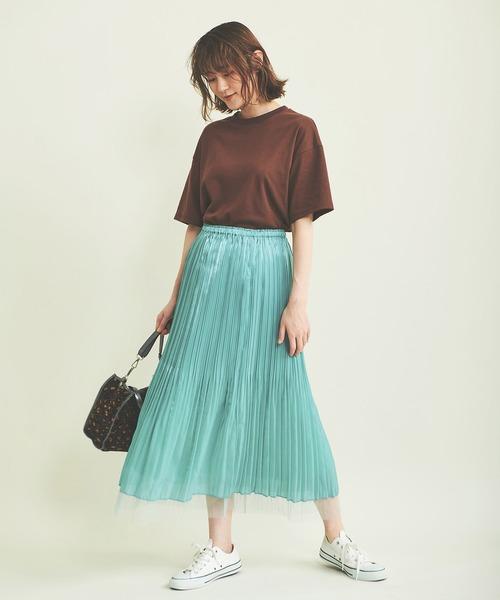 [The Virgnia] グロッシーチュールプリーツスカート