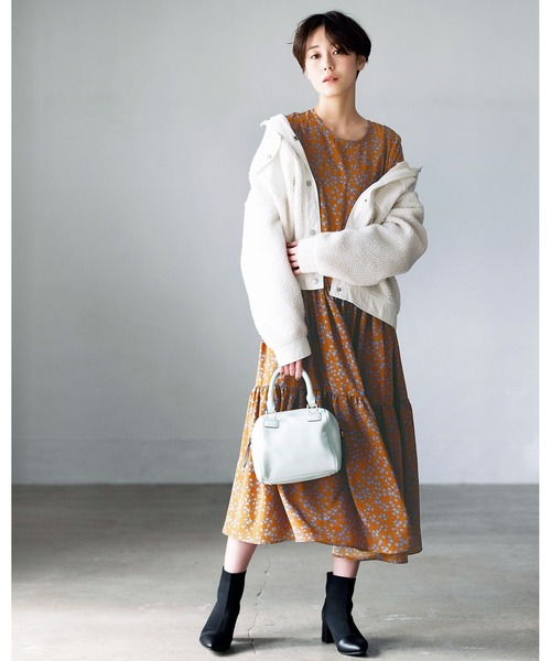 [GeeRA] 【20秋冬新着】ティアードロングワンピース