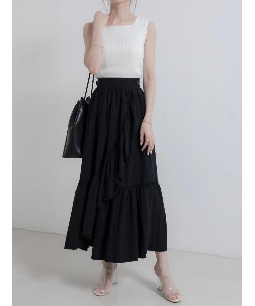 [A AMEL] フリルボタンラップスカート