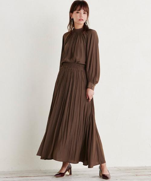[Ranan] ビンテージサテンマキシスカート