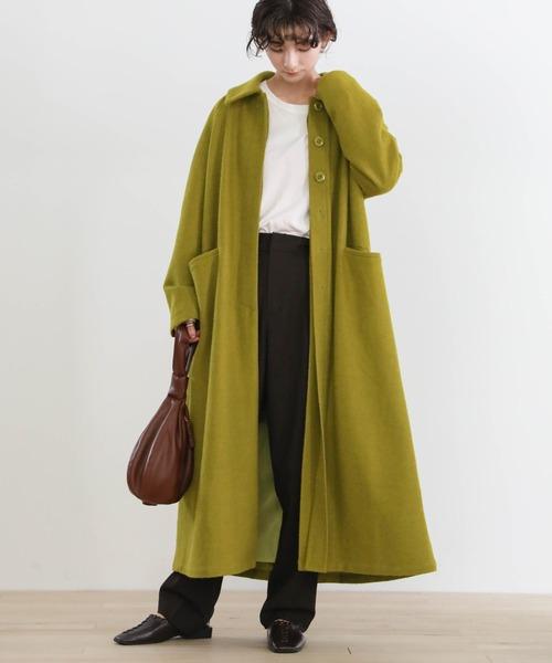 ロングコートの服装