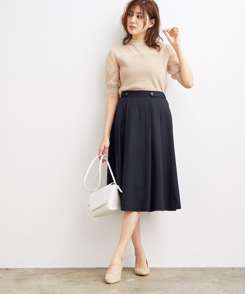 [ViS] 【WEB限定SS,LLサイズ】サイドタックフレアスカート