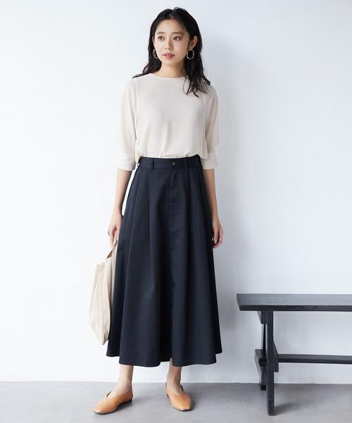 [ViS] 【WEB限定】チノボリュームスカート