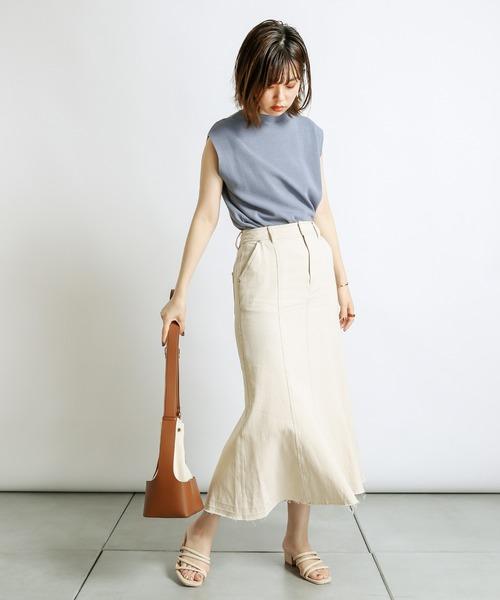 [natural couture] マーメイドフレアデニムスカート