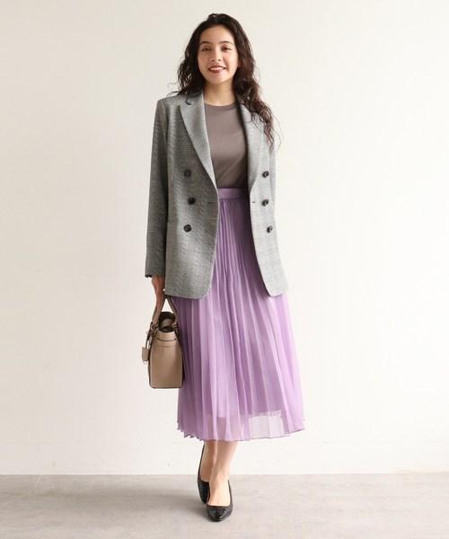 [AG by aquagirl] 【WEB限定Lサイズあり】オーガンジーランダムプリーツスカート