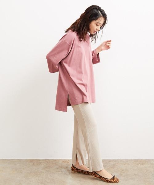 [ViS] 【Lee×ViS】7分袖チュニックTシャツ