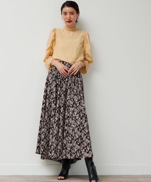 [LADYMADE] ウエストコルセットフレアスカート