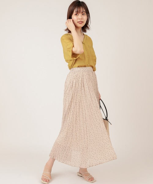 [natural couture] 【ZOZO限定】ほんのりシアー開襟ゆるシャツ