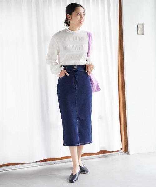 [ViS] Iラインデニムスカート