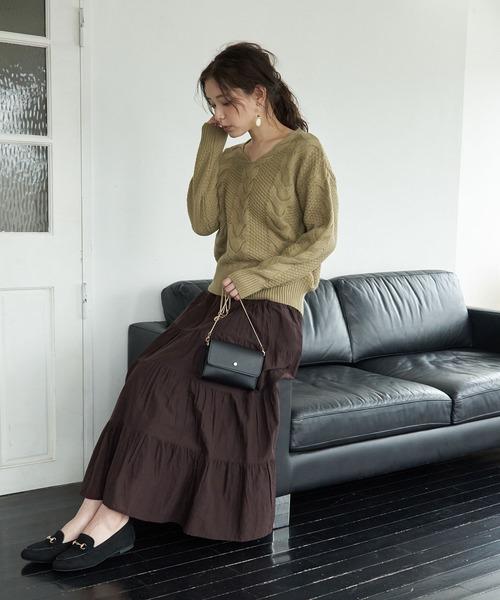 [ROPE' PICNIC] インド綿ボイルティアードスカート
