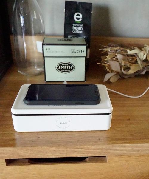 ワイヤレス充電もできる除菌ボックス