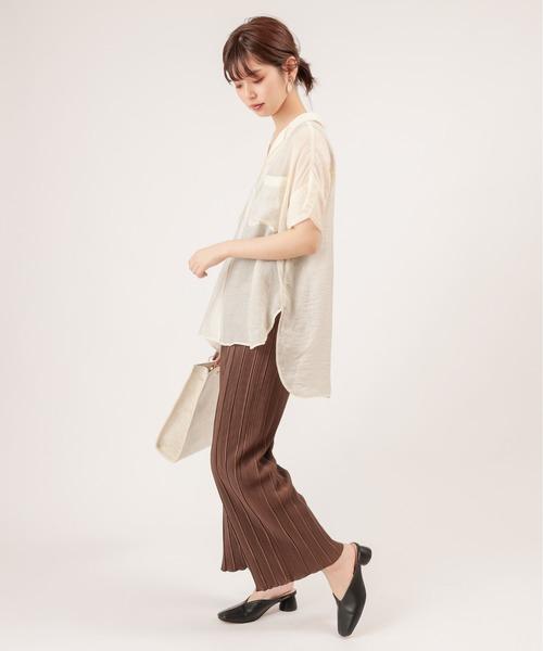 [natural couture] らくちんおしゃれプリーツパンツ