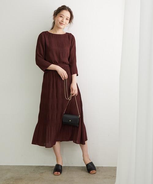 [ROPE' PICNIC] 【セットアップ対応】マジョリカプリーツスカート